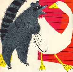 Petunia, I Love You: A Forgotten 1965 Children's Book Treasure | Brain Pickings #friendship #goose #raccoon #illustration