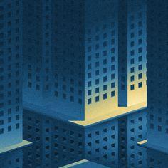 Big City Lights II on Behance