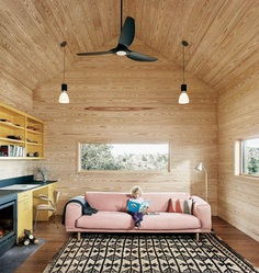 Off-the-Grid Porch House in West Texas 7, living room