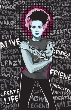Bride-Matt Fontaine #frankenstein #bride #vector #typography