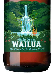 Kona Wailua Ale Packaging #beer #bottle #label #packaging