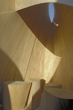 Winnipeg Skating Shelters by Patkau Architects © James Dow #shelters #pavilion #plywood