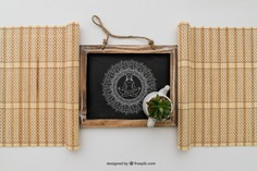 Chalkboard framed by bamboocloths Free Psd. See more inspiration related to Mockup, Spa, Health, Cute, Yoga, Chalkboard, Mock up, Plant, Decoration, Drawing, Cactus, Bamboo, Healthy, Decorative, Peace, Mind, Balance, Draw, Relax, Pot, Meditation, Wellness, Healthy lifestyle, Lifestyle, Up, Tablecloth, Relaxation, Composition, Mock, Peaceful, Inner and Framed on Freepik.