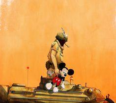 Jonathan Bartlett #illustration #bug #mickey #mouse