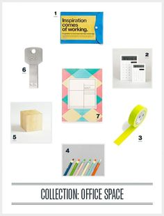 Design Work Life » Collection: Office Space #office #palette #stationary