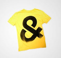 C&C Ampersand Shirt by consumecreate on Etsy #yellow #tshirt #black #shirt #ampersand