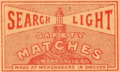 All sizes | suedoises047 | Flickr - Photo Sharing! #matches #safety #vintage #typography