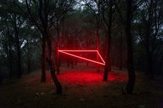 #photography #geometric #light #installation #shape #triangle #neon
