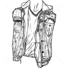 What to wear #vector #white #dude #black #shirt #vest #stock #illustration #torso #and #fashion #man #sketch