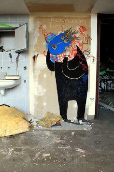 Opuszczony szpital dzieciÄ™cy | VICE Polska #street #wall #painting #art #hospital #character