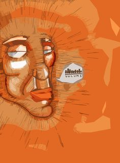 #illustration #volume #orange #traces #design #dash