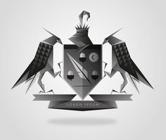 Crest #illustrator #of #geometric #crest #shield #arms #coat #facet
