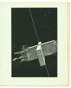 THE VAGRANT LIGHT OF STARS « LEBBEUS WOODS #illustration #retro #book #etching