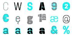 Dezen Stencil 03 - Desktop font Â« MyFonts #stencil #typography