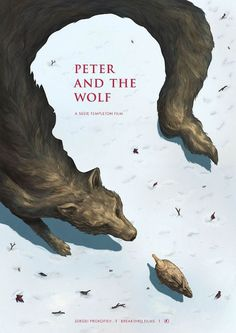 Peter and the Wolf Phoebe Morris Illustration #film #movie #peter #illustration #poster #animals #wolf #story