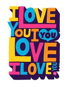 FoT Erik Marinovich I love You B #lettering #distress #print