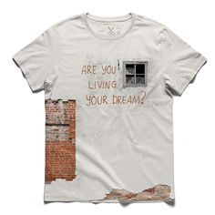 #your dream #bone #tee #tshirt #typo #brick #wall #window #graffiti #streetart