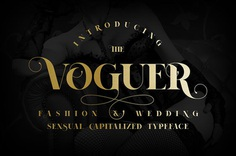 Voguer font on Behance