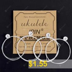 IRIN #U105 #White #Nylon #Ukulele #Strings #4pcs #- #WHITE