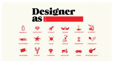 designer as #icons