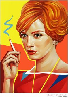 Illustrations for Rolling Stone and Interview on the Behance Network #illustration #mad #men
