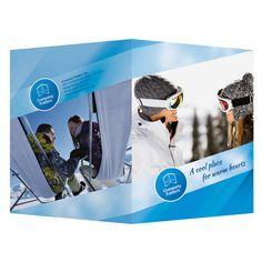 Blue Ski Resort Presentation Folder Template