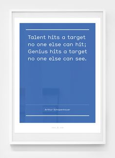Image of Smile in the mind / No.1 #blue #genius #talent #poster