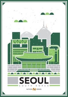 RAWZ #city #flyer #seoul #poster #green