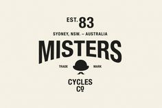The Misters Cycles Co. - Studio Sammut / Bench.li #logo #design