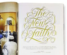 Newfaith #typography #lettering #gold