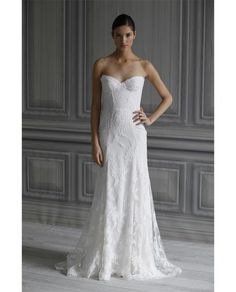 Bride | Browns fashion & designer clothes & clothing #wedding #lace #dress #white
