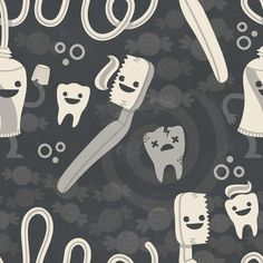 Dental Hygiene Pattern, Philip Tseng #philip #tseng #pattern #dentist
