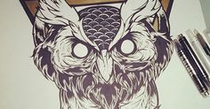 Hydro74 - Piety within Progression #hydro74 #illustration #wicked #owl