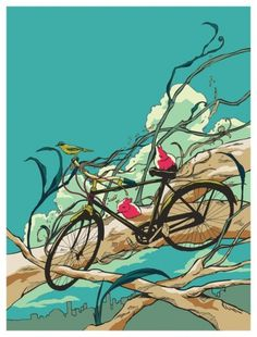 huebucket (Have a Nice Day) #tree #rabbit #bike