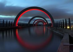 500px / Photo #rings #red #water #cityscape #sky #photo #photograph #landscape #night