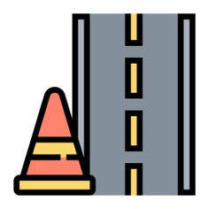 See more icon inspiration related to road, highway, construction and tools, miscellaneous, broken line, transportation, warning, danger, cone and transport on Flaticon.