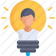 See more icon inspiration related to thinking, idea, education, user, light bulb, avatar, business, person and people on Flaticon.