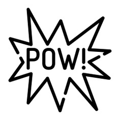 See more icon inspiration related to pow, bubble chat, conversation, communications, chat, speech bubble and typography on Flaticon.