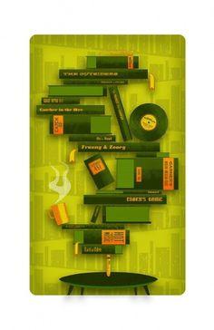 Illustrations - Daran Brossard Creative Co. / DBCCo. #shapes #books #illustration #love #typography