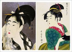 Japanese Woodcut Prints –Utamaro Kitagawa / Aqua-Velvet #japanese #prints #woodblock