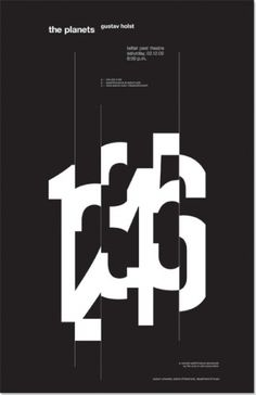 numbers poster #graphic design #typography #helvetica #poster #black