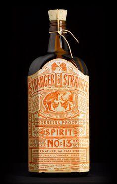 Stranger and Stranger #branding #bottle #packaging #label #spirits