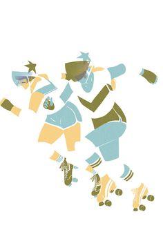 Roller derby series by Saint Kilda
