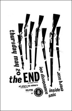 The End - Gig Poster