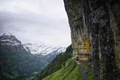 Aescher Mountain Inn high in the Swiss Alps #swiss #alps #mountains #inn #switzerland
