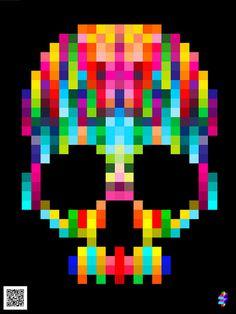 Skull #print #colors #skull