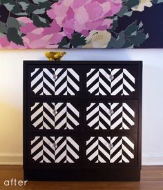 Design*Sponge | Your home for all things Design. Home Tours, DIY Project, City Guides, Shopping Guides, Before & Afters and much more #diagonal #diy #furniture #chevron #drawer #beautiful