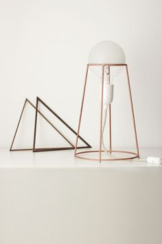 Agraffé lamp on Behance #light #lamp #stand #interior