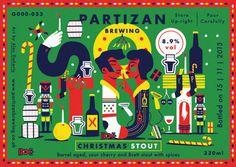 Etiquetas ilustradas para la cerveza artesanal Partizan Brewing #illustration #label #beer