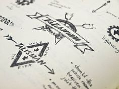 Talisman Bike Gear #bikes #branding #design #logo #sketch